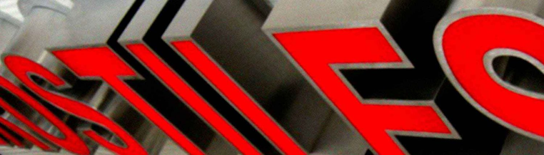lettere in acciaio